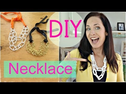 DIY Necklace | Hardware Store Chain Necklace (EASY DIY) | by Michele Baratta