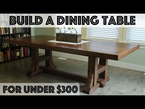DIY Dining Table: Pottery Barn Inspired Farmhouse Table