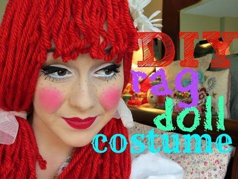 DIY: Rag Doll Costume, Wig, and Makeup
