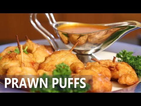 Fried prawn Puffs | Mallika Joseph Food Tube
