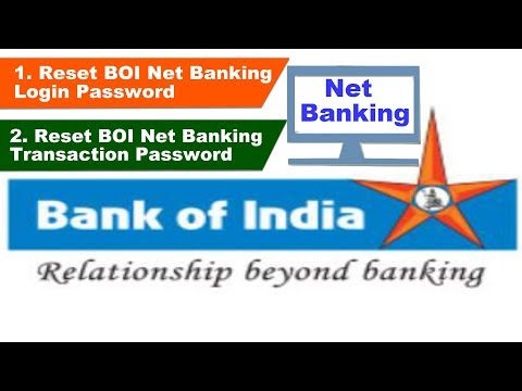 How to Reset Bank of India Internet Banking Password