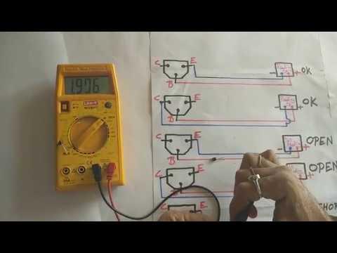 Testing Of NPN Transistor with Digital Multimeter