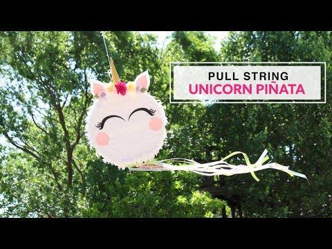 DIY Pull String Unicorn Piñata - Collab Carte Fini