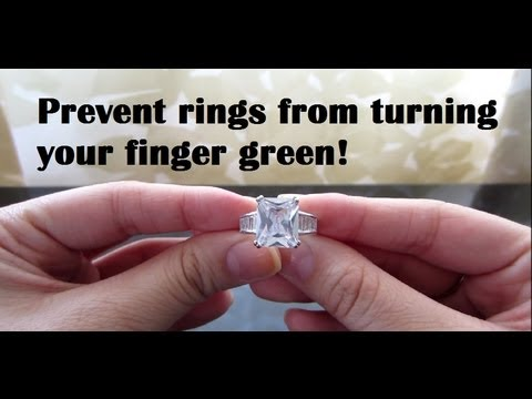 Prevent rings from tarnishing & turning your finger green