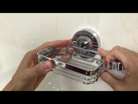 Review for HOME SO Suction Soap Dish Holder, Installation tips