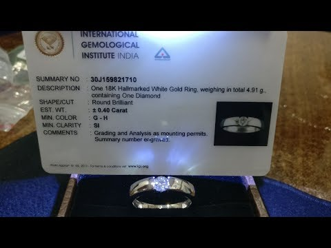 MEN'S DIAMOND RING UNDER INR 50 THOUSAND G-H SI 0.40ct FOR DIWALI