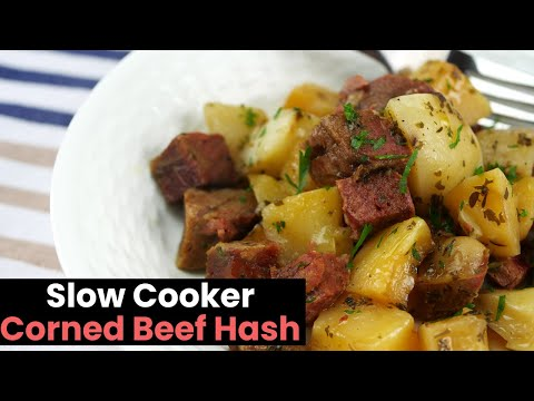 Deliciously Easy Slow Cooker Corned Beef Hash