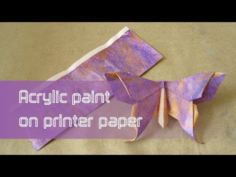 Origami Paper Instructions: Acrylic Paint on Printer Paper