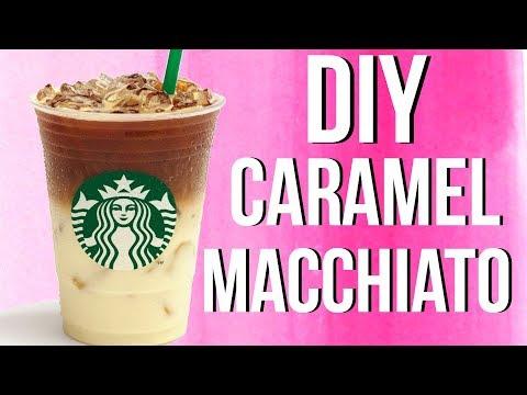DIY Starbucks Iced Caramel Macchiato!