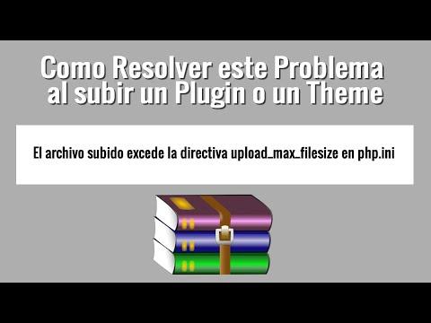 El archivo subido excede la directiva upload_max_filesize en php.ini. Resuelto