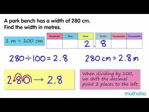 Converting Centimetres to Metres