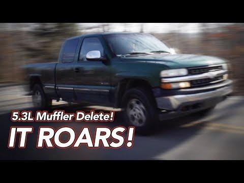 5.3L V8 Chevy Silverado Muffler Delete - SAVAGE SOUND!