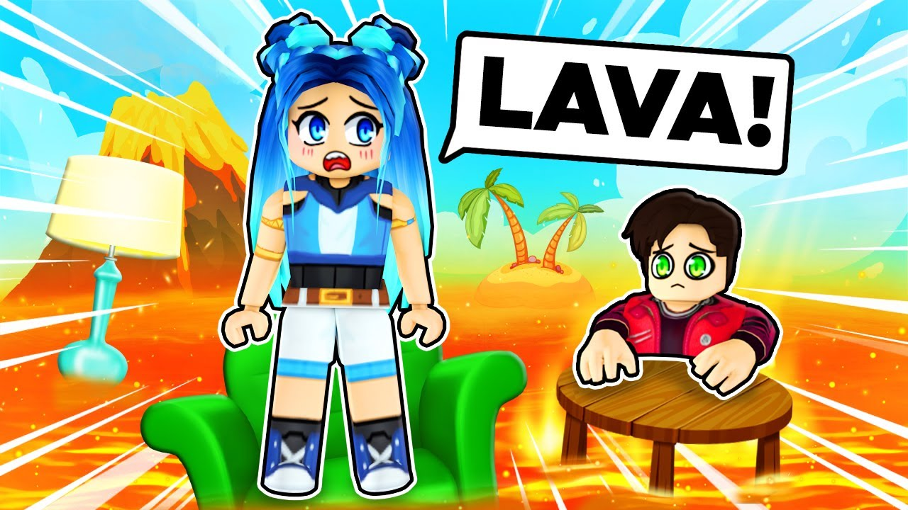 We're STRANDED by LAVA in Roblox!