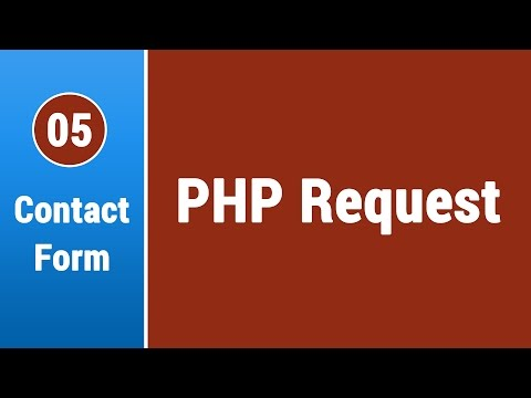 Create Contact Form in Arabic #05 - Creating The PHP Form Request
