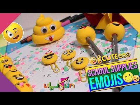 DIY Air-dry Clay Emojis School Supplies Part 2: Kids Club