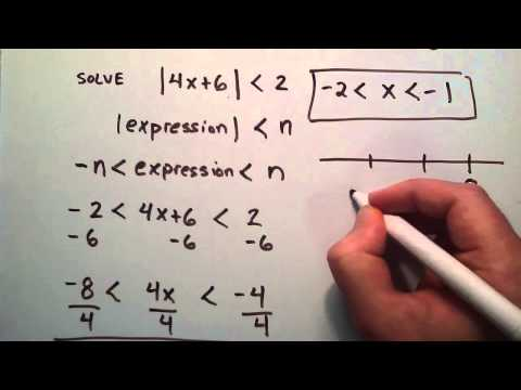 How to Solve Absolute Value Inequalities ( Example 1 ) , Intermediate Algebra , Lesson 51