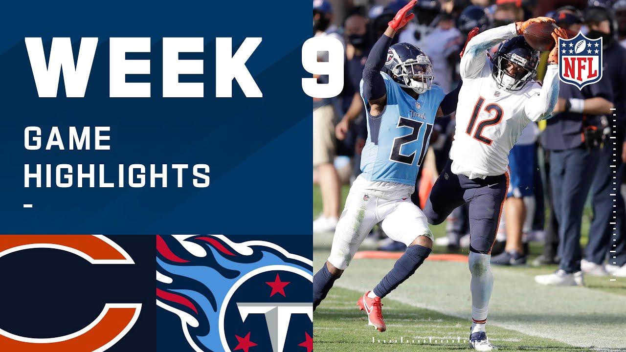 Bears vs. Titans Week 9 Highlights | NFL 2020
