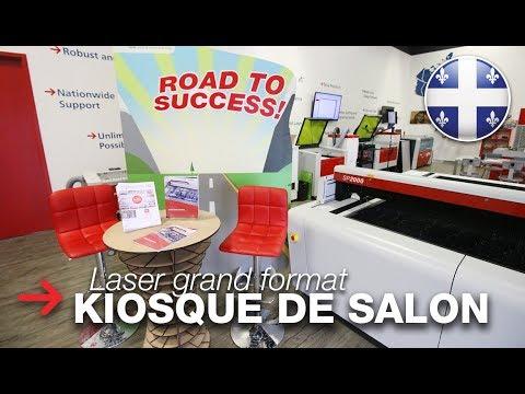 Kiosque de salon personnalisé | Découpe laser grand format | SP2000