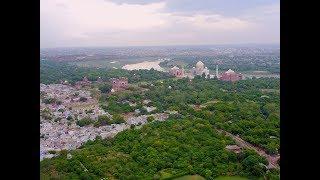 TAJ MAHAL AGRA INDIA DRONE SHOT