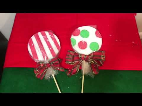DIY How To Make GIANT LOLLIPOP!| Vlogmas Day 4| how to make giant lollipops $5 or less
