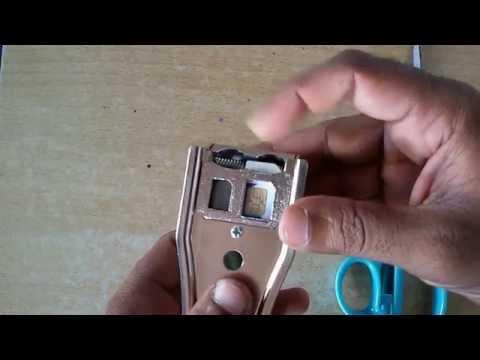 How to cut the Normal sim to Nano Size Using Nano sim Cutter | Sim cutting Mechanics