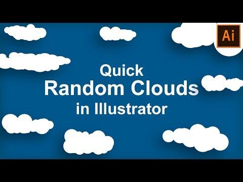 Illustrator Tutorial | Quick Random Clouds