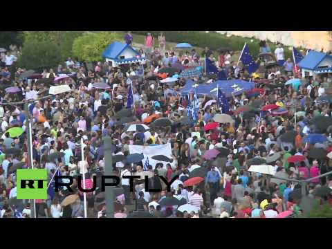 Greece: Athenians pack Syntagma Square to call for 'yes' vote