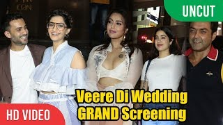 UNCUT - Veere Di Wedding GRAND Screening | Jhanvi, Khushi, Sonam And Many...