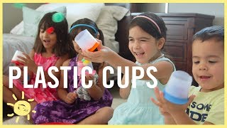 PLAY |  5 Ways to Reuse Plastic Cups!