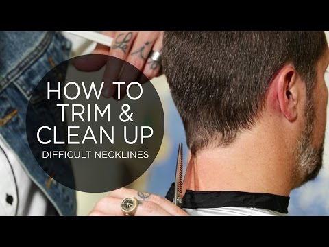 How To Trim & Clean Up a Difficult Neckline