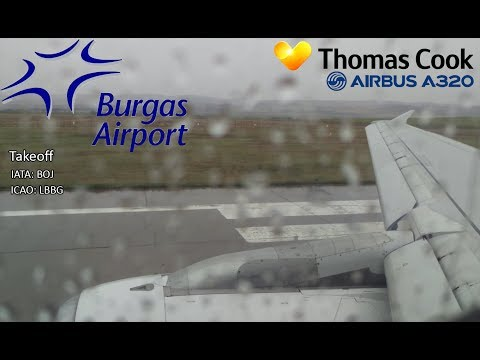 Thomas Cook A321-200 Taxi & Takeoff Burags Airport