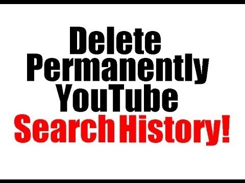 How To Delete YouTube Search and Watch History Now Oct 2015