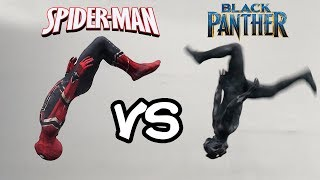 Download Infinity War Spiderman VS Black Panther In Real Life (Avengers, Parkour, Stunts) Video