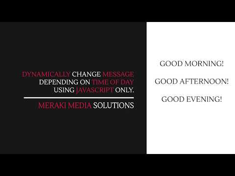 Javascript - Dynamically change message using time of day