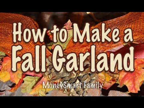 Festive Fall Garland - A Beautifully Simple DIY from America's MoneySmart Family