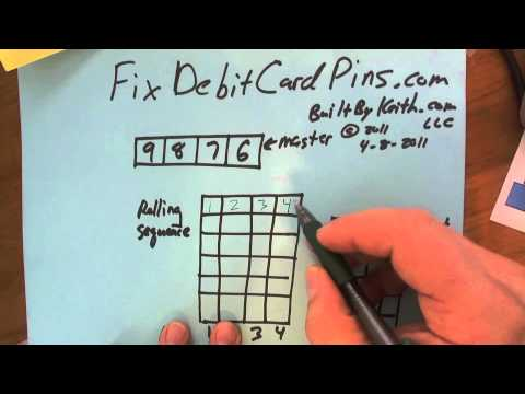 FixDebitCardPins Banks should create rolling PIN sequences to prevent card theft