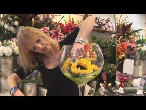 How To Arrange Sunflowers In A Wine Glass
