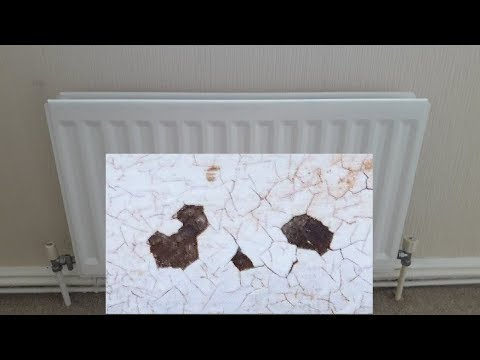 How to paint a rusty radiator with cracks.