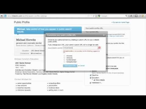 LinkedIn Secret: Custom LinkedIn Profile URL [How-To Video Tutorial]