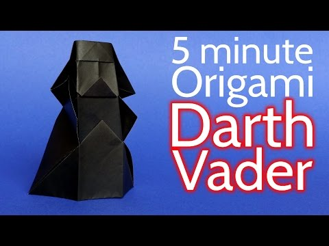 How to Make an Origami Darth Vader from Star Wars in 5 minutes - Tutorial (Stéphane Gigandet)