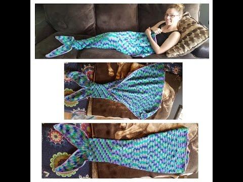 Crochet full size mermaid tail tutorial