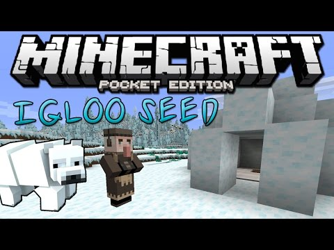 AMAZING IGLOO SEED! - Minecraft PE (Pocket Edition / Windows 10 Edition)