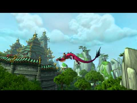 World of Warcraft: Mists of Pandaria - Flying on a dragon