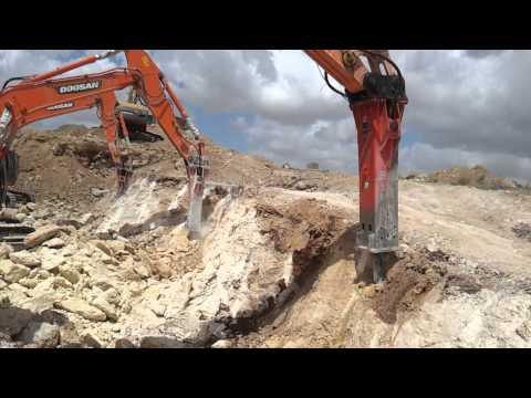 HYDRAULIC BREAKERS MTB-505 + 2 X MTB 285 WORKING IN ISRAEL