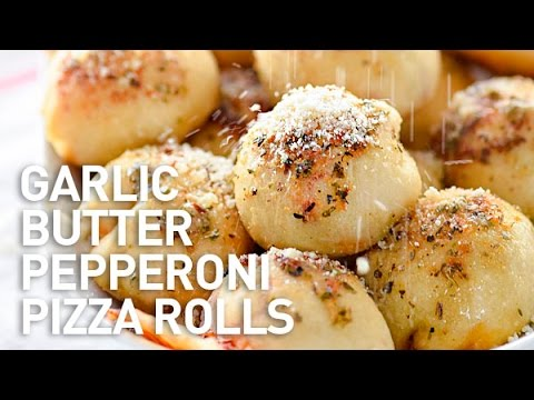 Garlic Butter Pepperoni Pizza Rolls Recipe