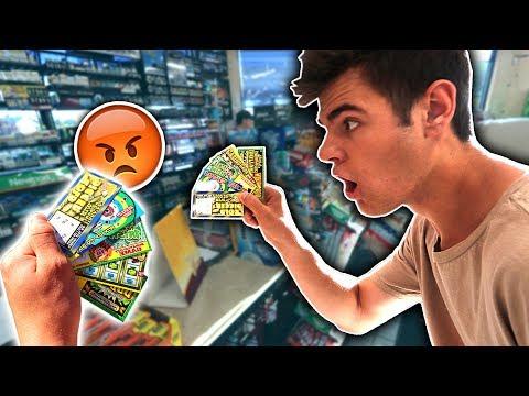 USING FAKE JACKPOT LOTTERY TICKETS FOR REAL MONEY PRANK! | David Vlas