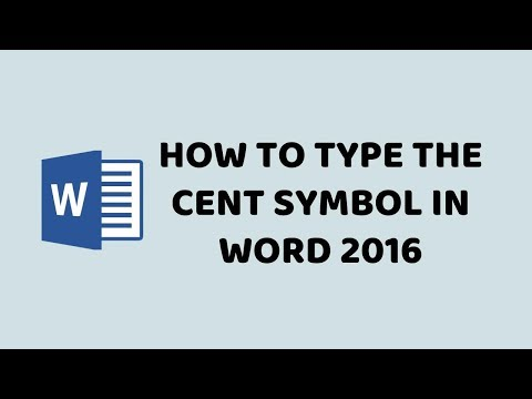 How to Type the Cent Symbol in Word 2016   How to Insert the Cent Symbol in Microsoft Word - Hindi