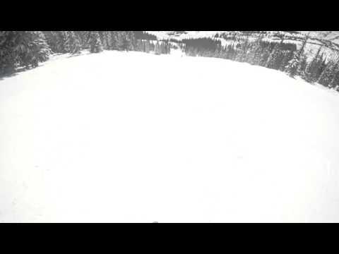 skiing with meh helmet cam
