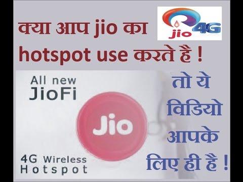 Are you use jio Hotspot