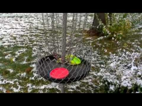 Homemade disc golf basket- how to make
